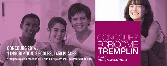 Concours Ecricome Tremplin 1 et 2.