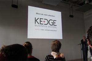 J'étais à la conférence de presse de... Kedge Business School !