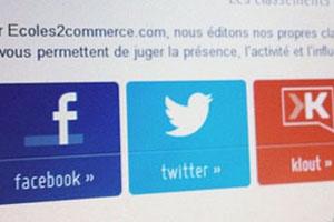 Les classements des écoles de commerce sur les réseaux sociaux !