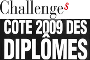 La cote 2009 des écoles de commerce par Challenges